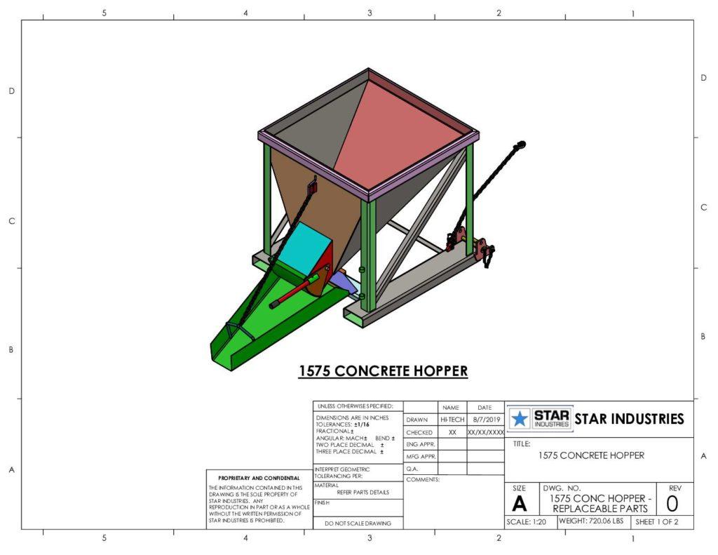 Concrete Hopper - Replaceable Parts