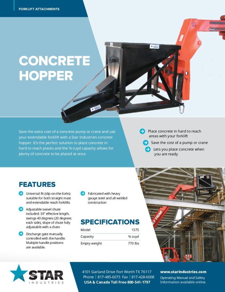 Concrete Hopper - Product Sheet