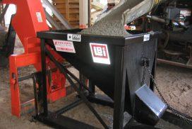 Concrete hopper in use