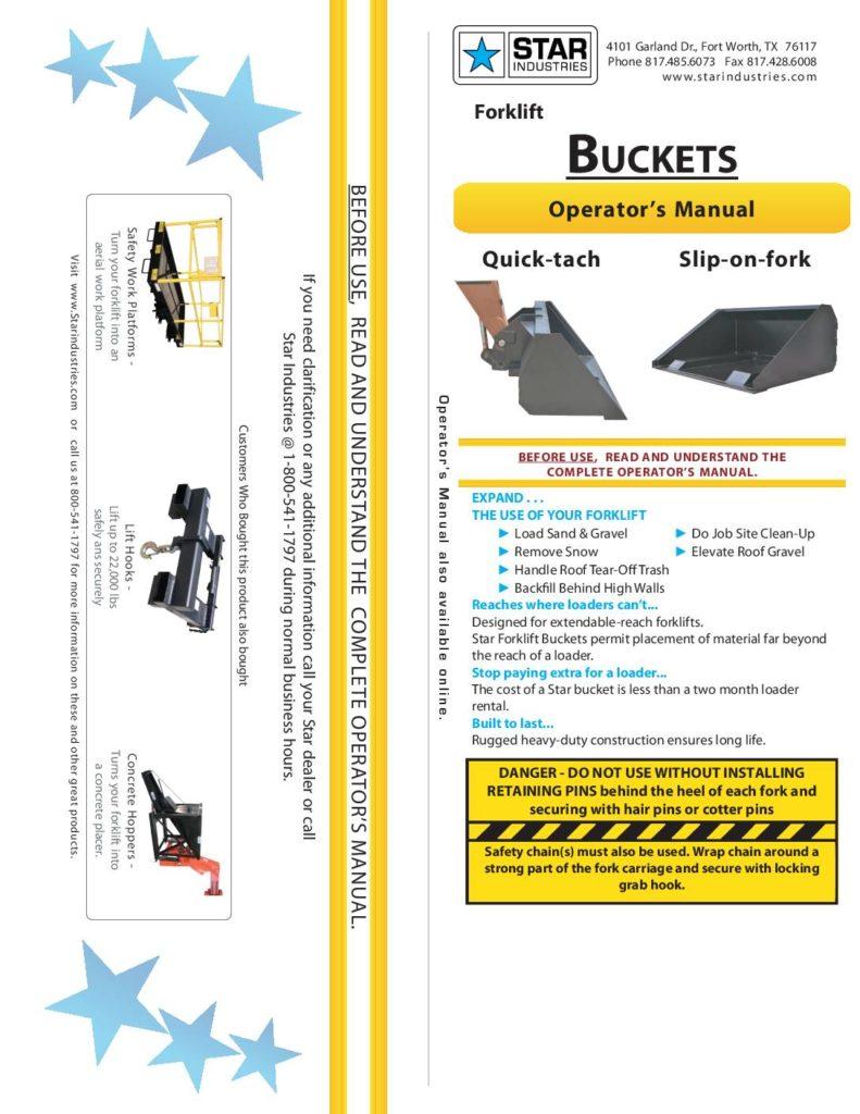 Forklift Bucket - Manual