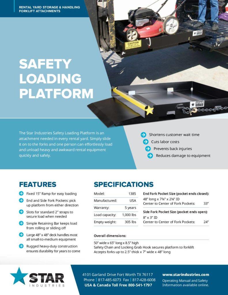 Saftey Loading Platform - Product Sheet