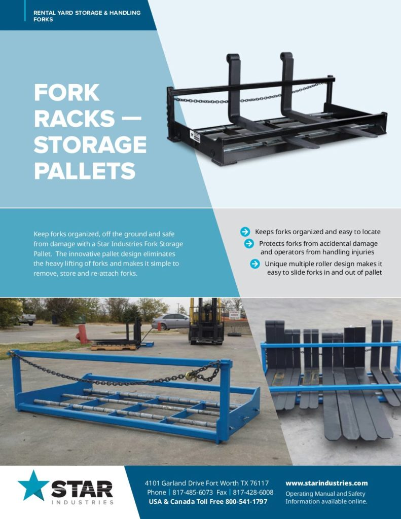 Fork Racks Storage Pallets - Product Sheet