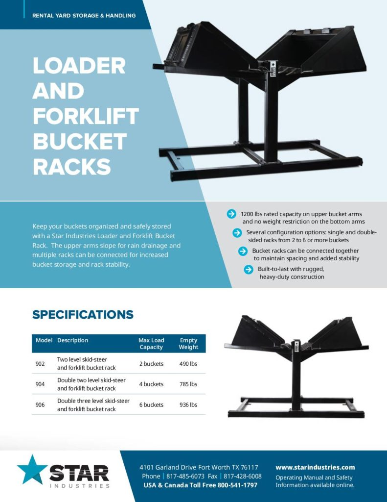 Bucket Racks - Product Sheet