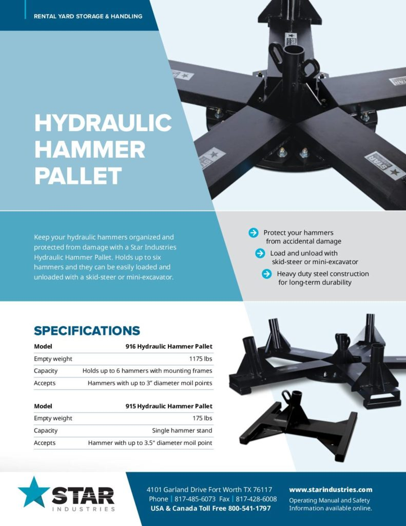 Hydraulic Hammer Pallet - Product Sheet