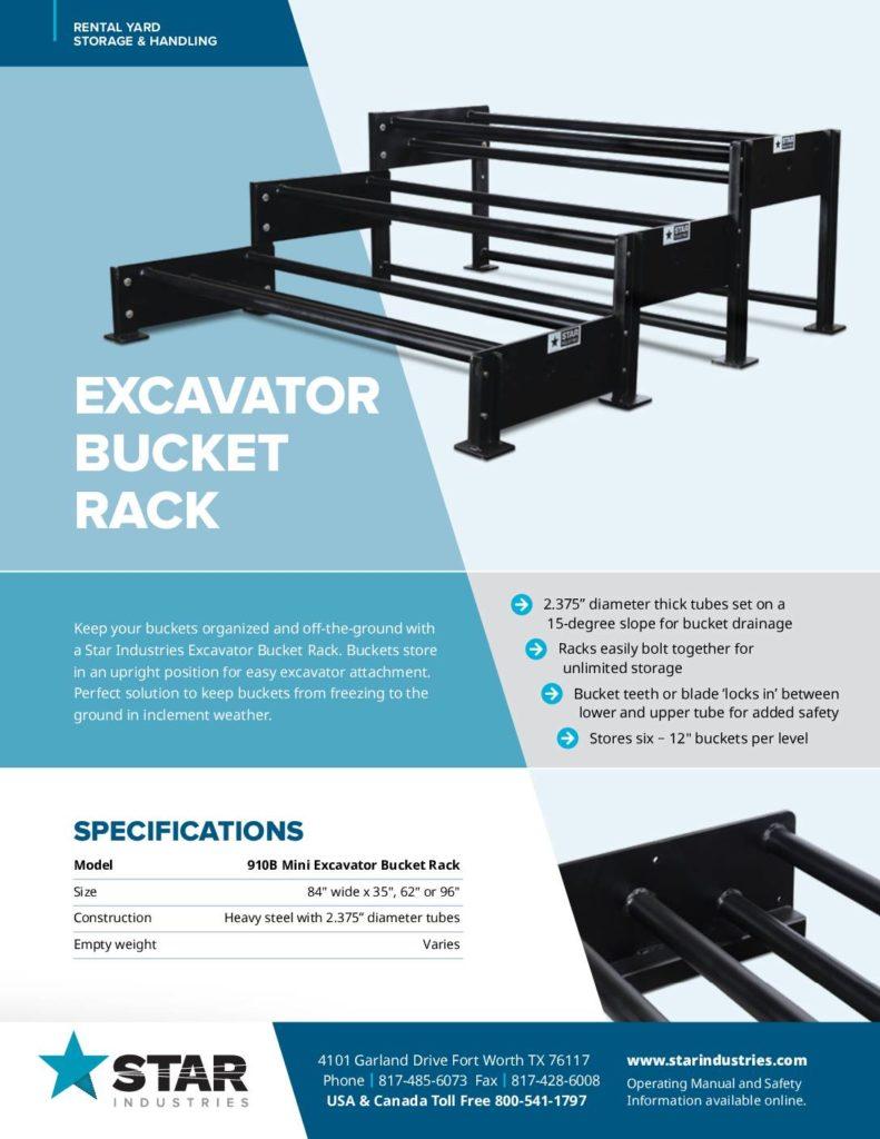Excavator Bucket Rack - Product Sheet