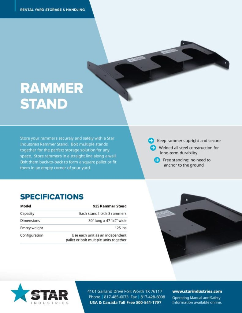 Rammer Stand - Product Sheet