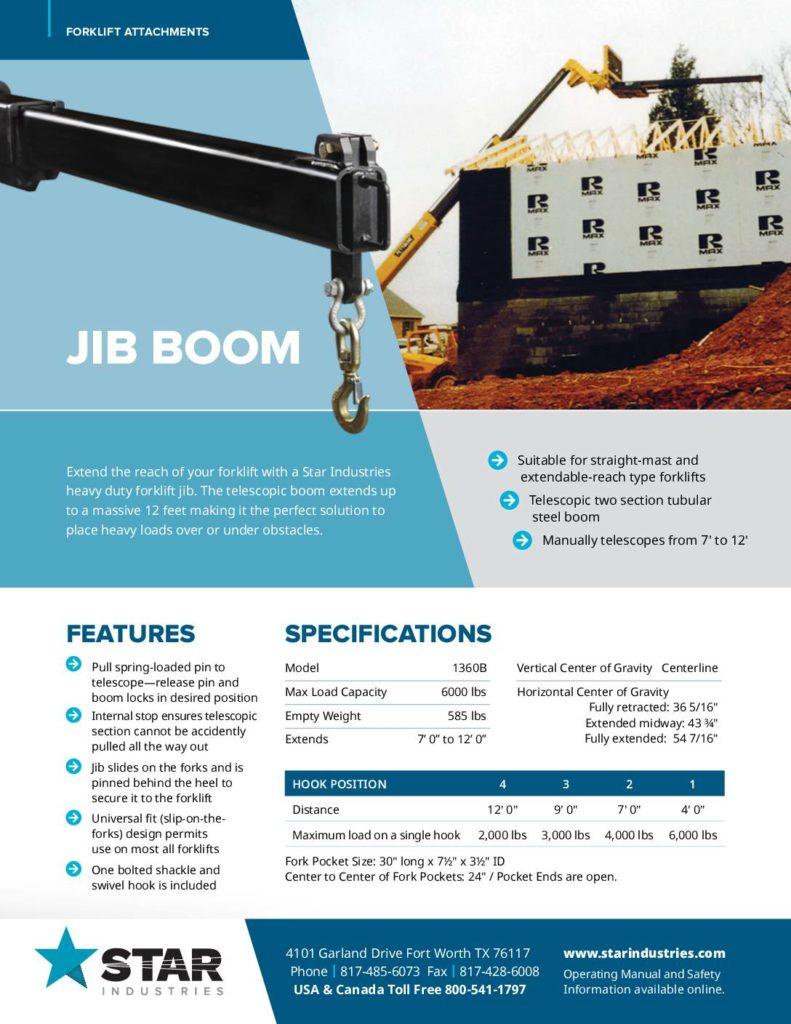 Jib Boom Product Sheet