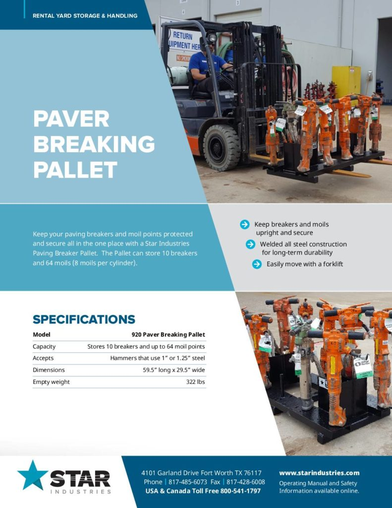 Paver Breaking Pallet - Product Sheet