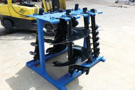 Organised and safely stored augers