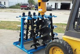 Drop-N-Go design - place augers directly on rack