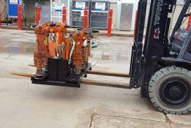 Paver Breaking Pallet on Forklift