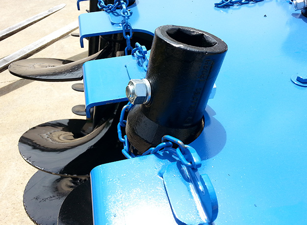 Secure augers to pallet