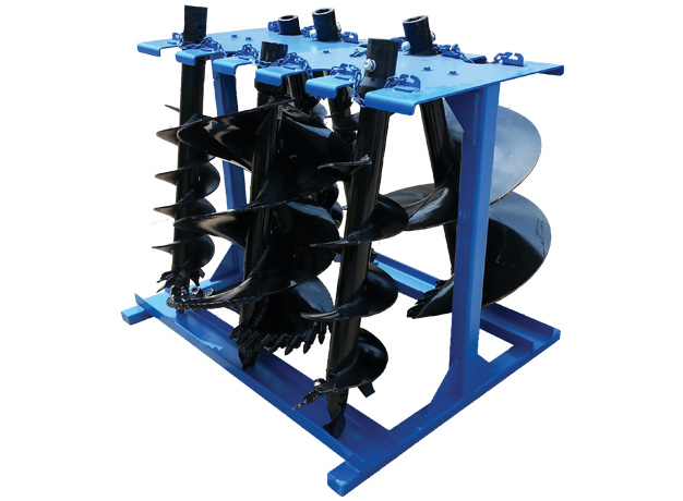 Stores up to 10 Augers