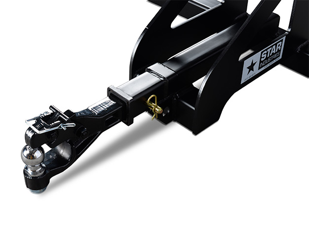 Trailer Hitch receiver makes moving equipment easy