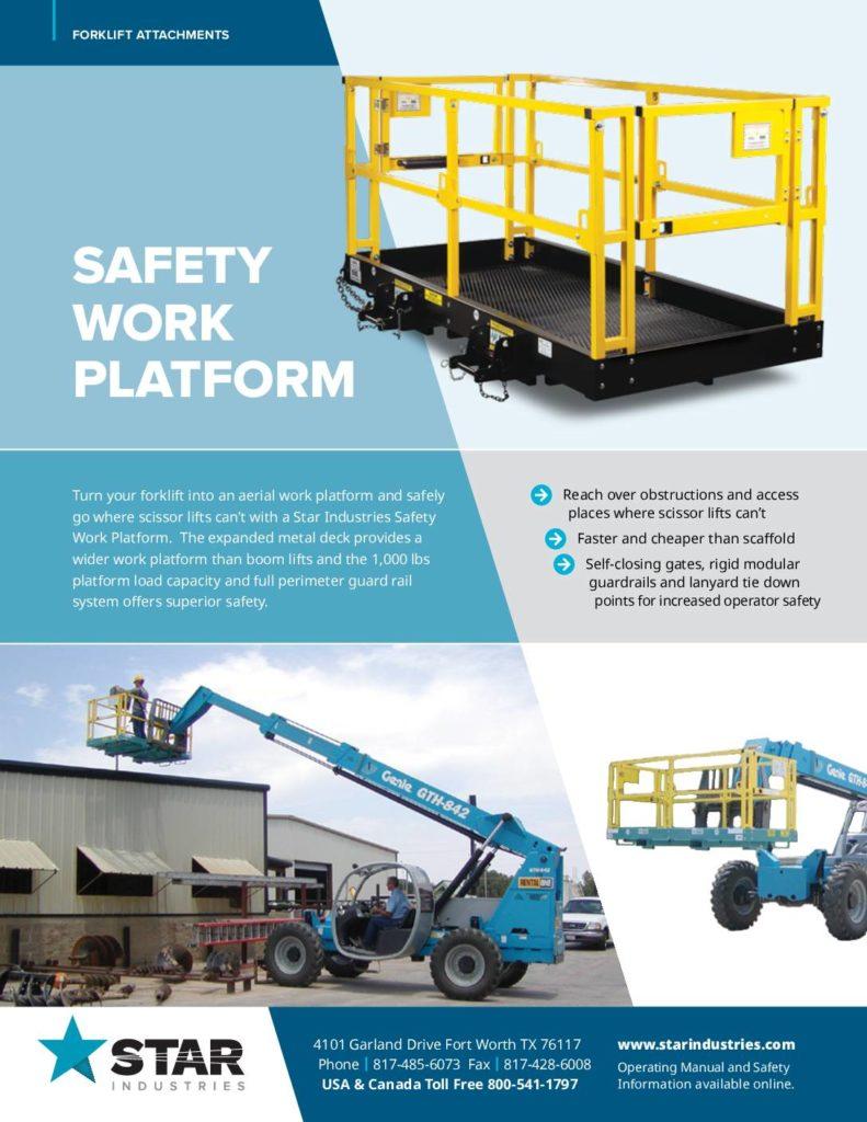 Safety Work Platform Product Sheet