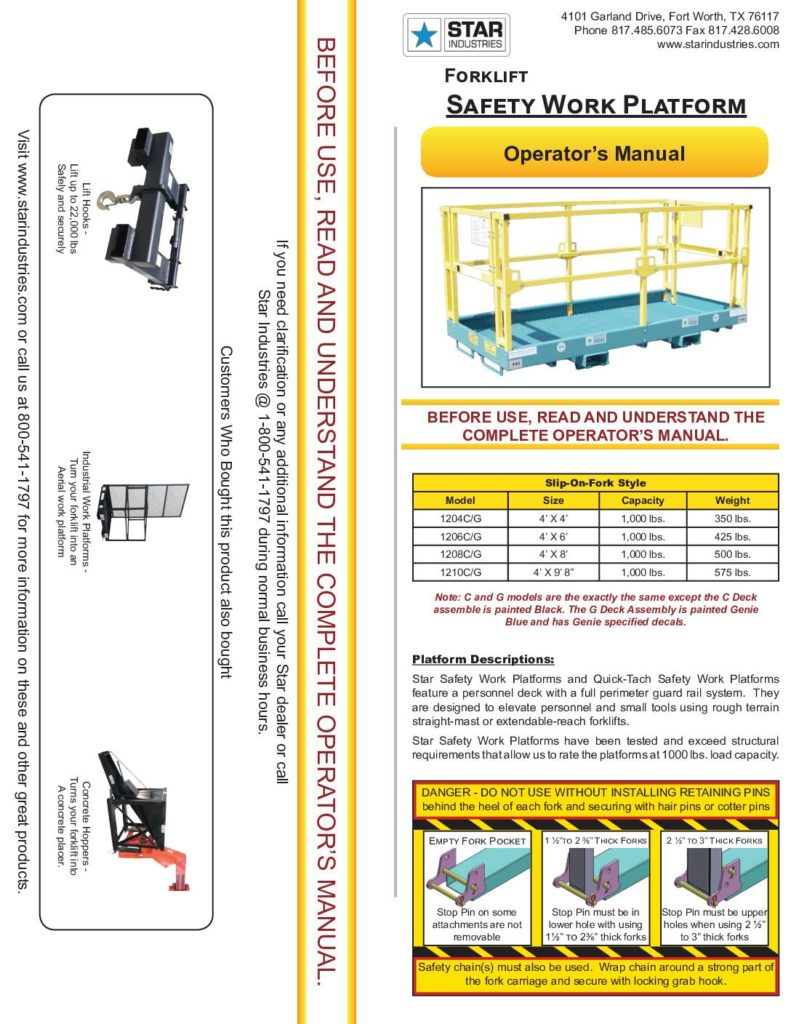 Safety Work Platform - Manual