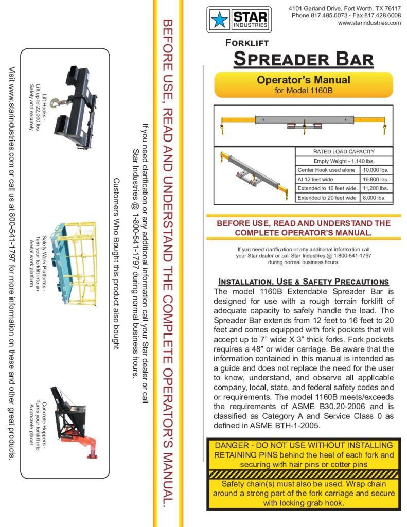 1160B - Operators Manual