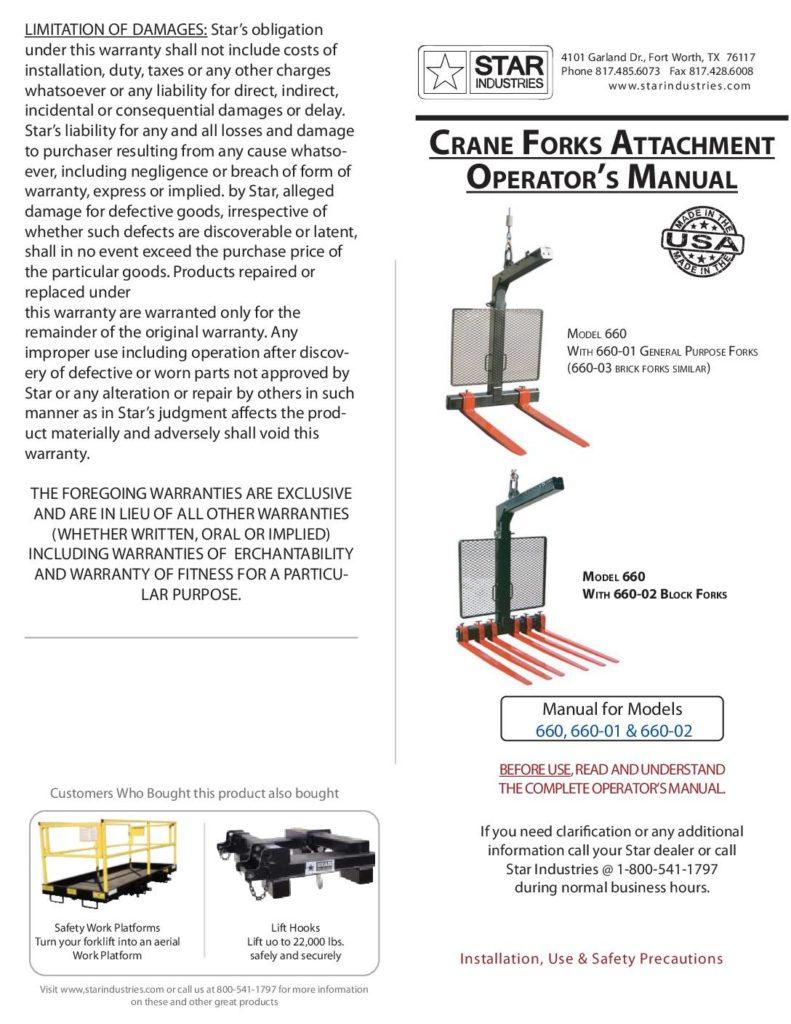 Crane Forks - Manual