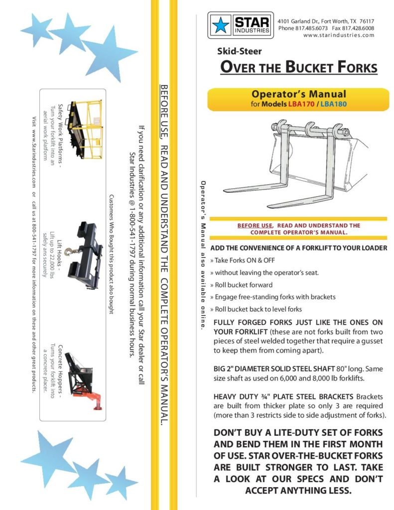 Over-the-Bucket Fork - Manual