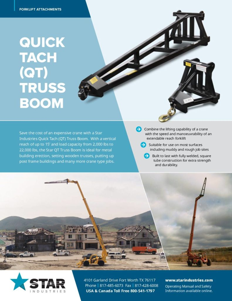Quick Tach Truss Boom - Product Sheet