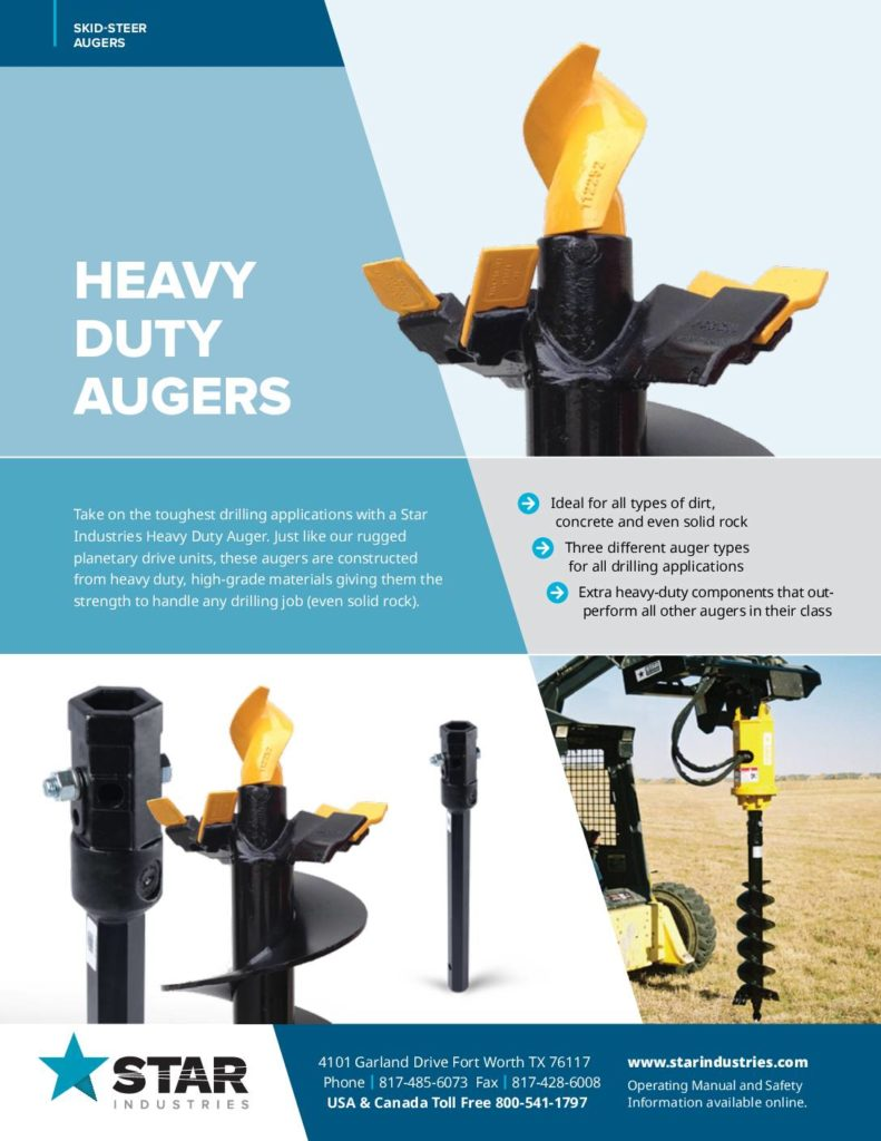 Heavy Duty Auger Product Sheet