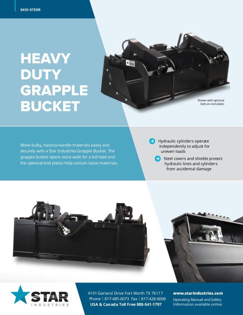 Grapple Bucket - Product Sheet