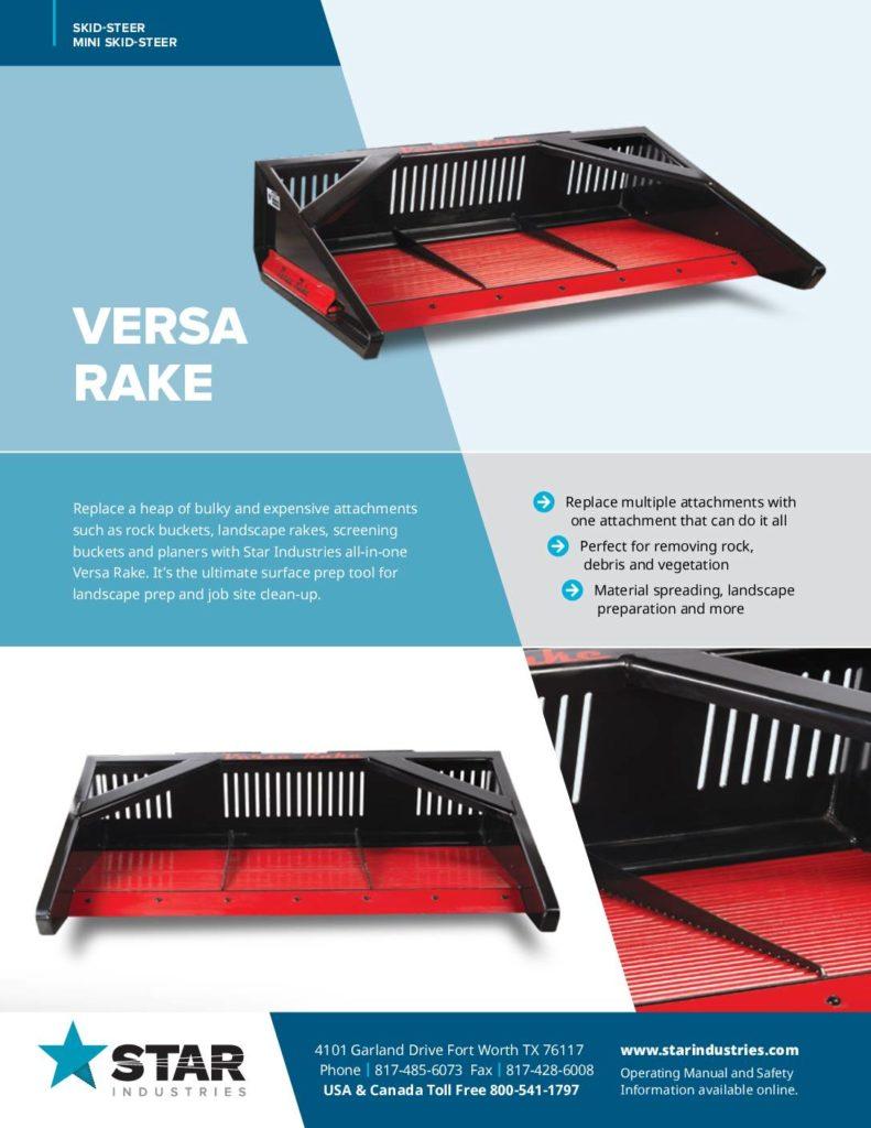 Versa Rake - Product Sheet