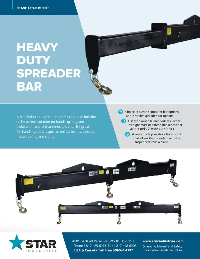 Crane Spreader Bar - Product Sheet