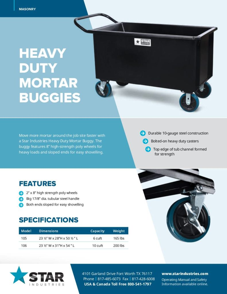 Mortar Buggies - Product Sheet