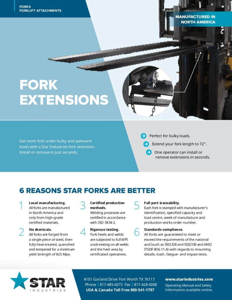 Fork Extensions - Product Sheet