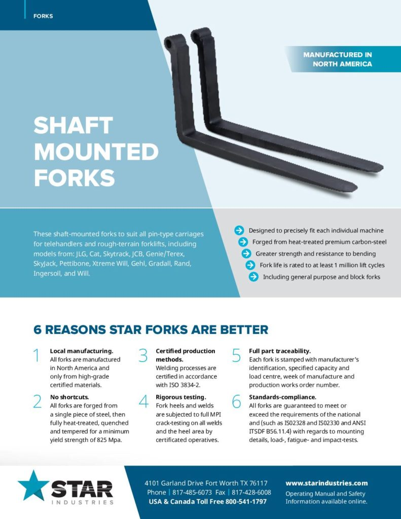 Shaft Mounted Forks - Product Sheet