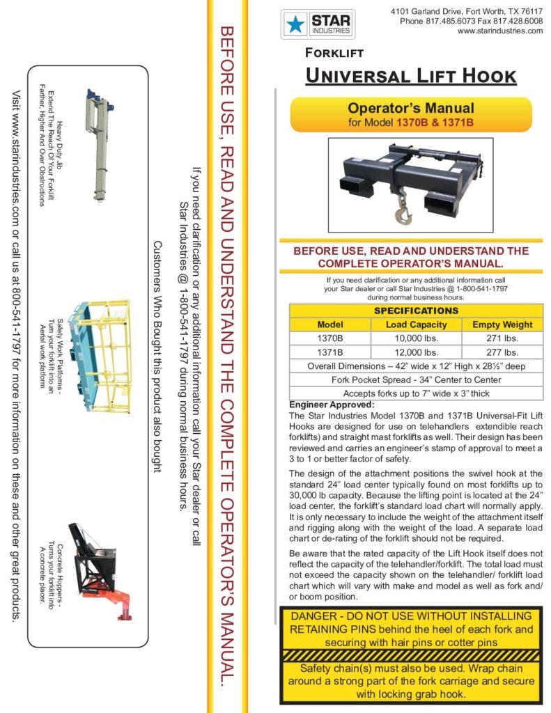 1370B/1371B - Operators Manual