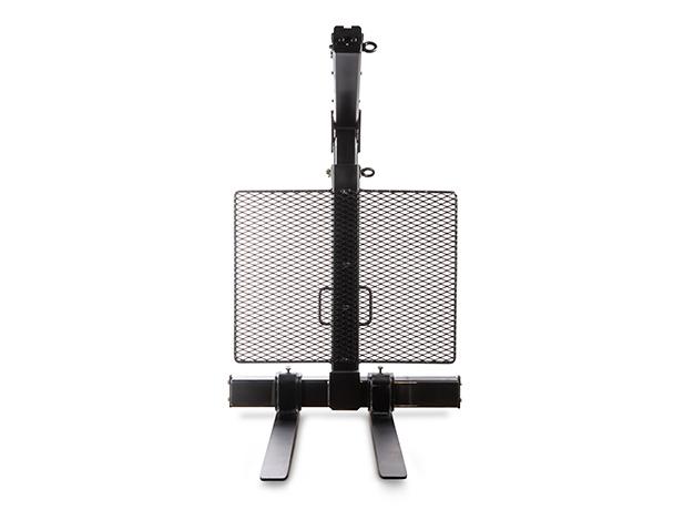Built-in handles on vertical post