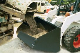 Place concrete with your skid-loader
