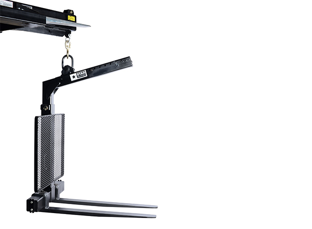 King post adjusts for load heights 48 to 68 inch