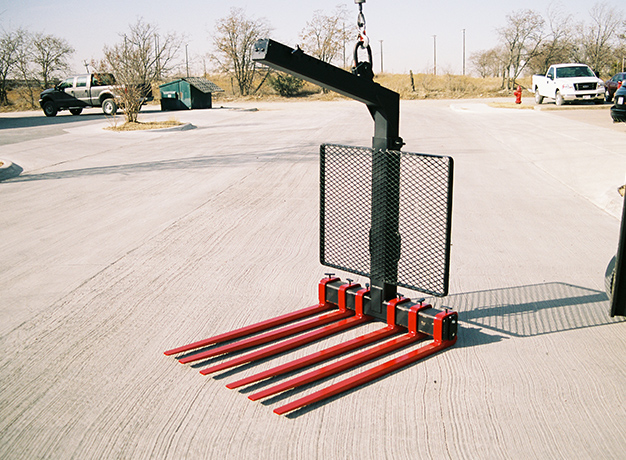 Crane Forks on the ground