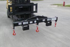 Crane Spreader bar and forklift