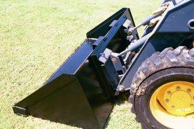 Heavy-duty bucket on skid-steer