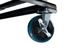 Bolted-on heavy duty casters