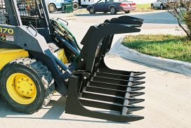 Root Grapple Bucket ready for use