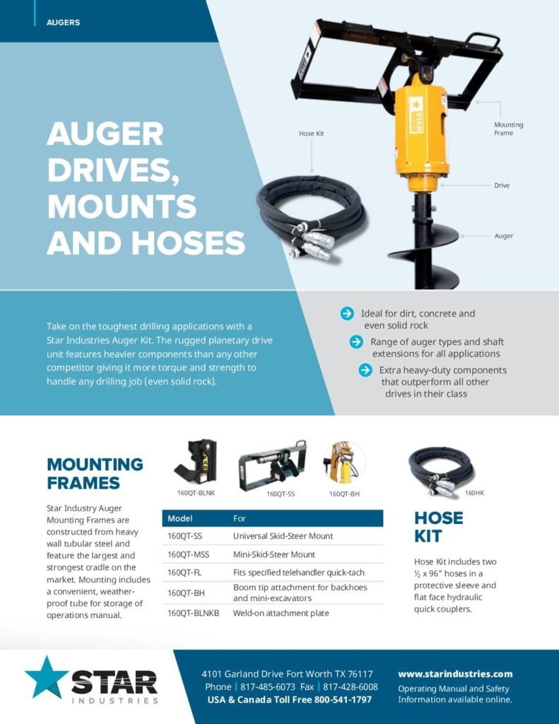 Auger Kit Complete Assembly - Product Sheet