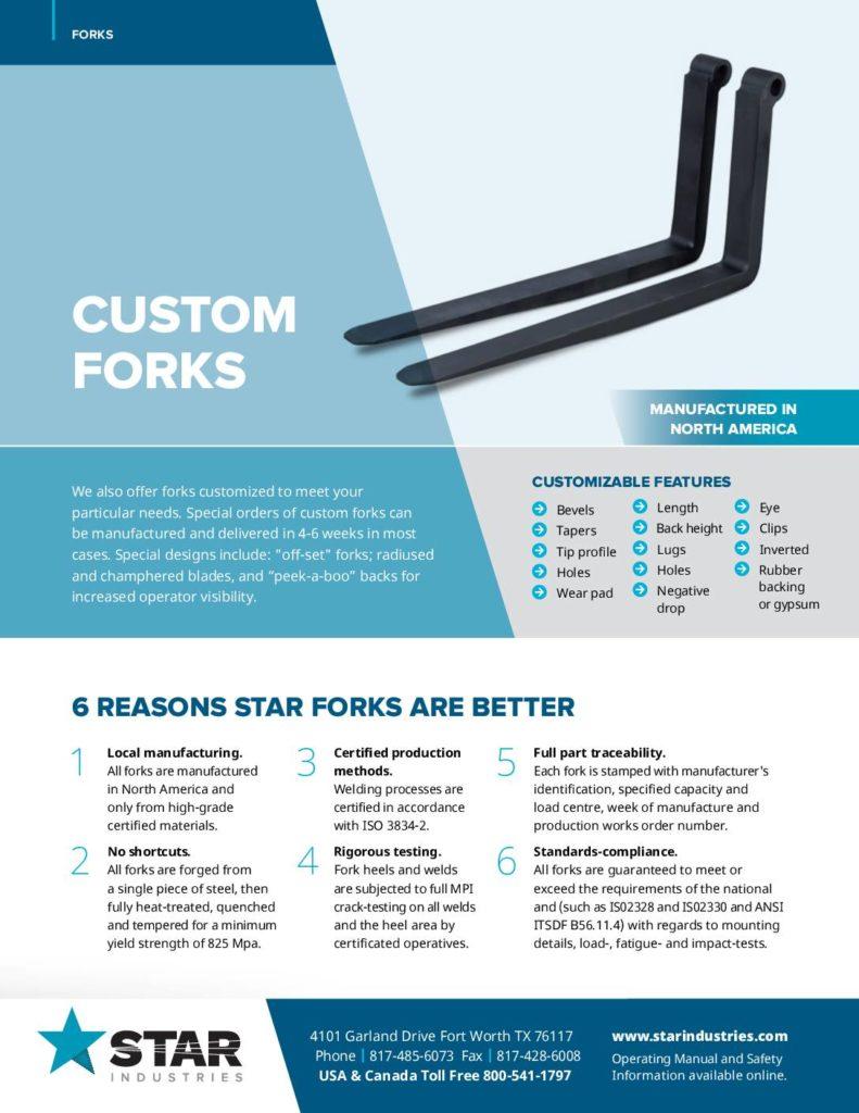 Custom Forks - Product Sheet
